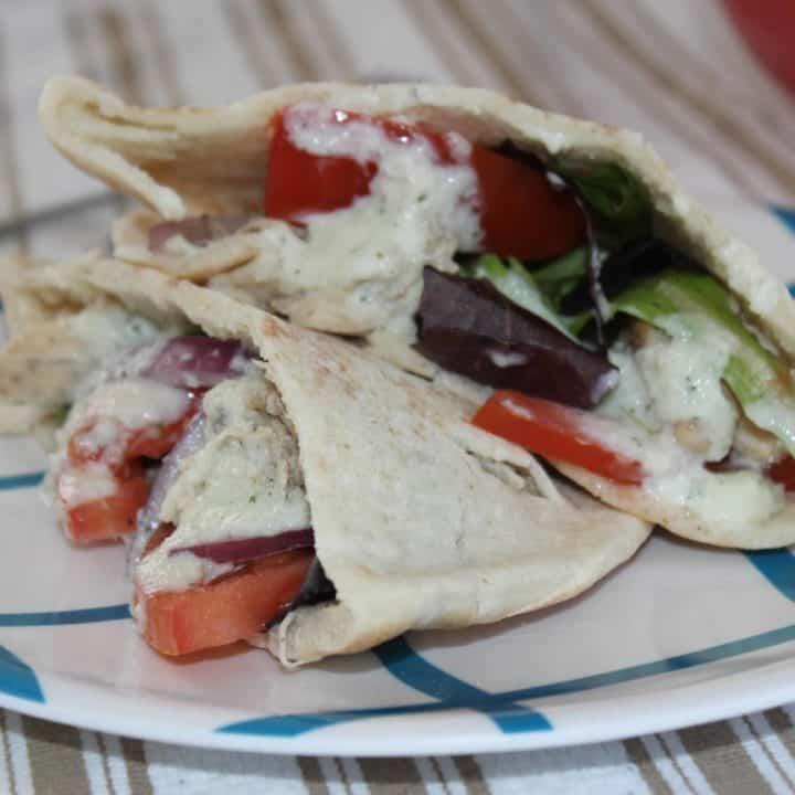 Slow Cooker Greek Chicken Gyros