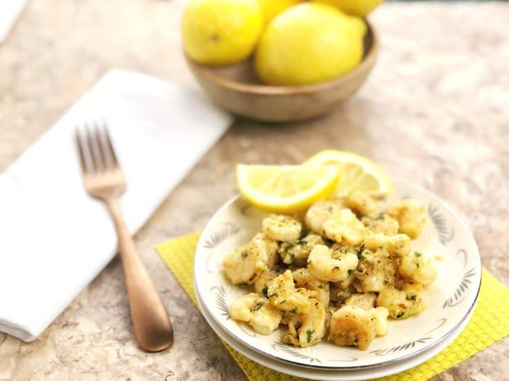 Quick and Easy 10 Minute Lemon Garlic Shrimp - 4 Freestyle Weight Watchers Points