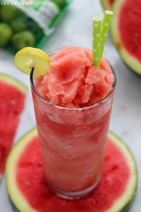 Watermelon Recipes- Watermelon Key Lime Slush-Cincy Shopper