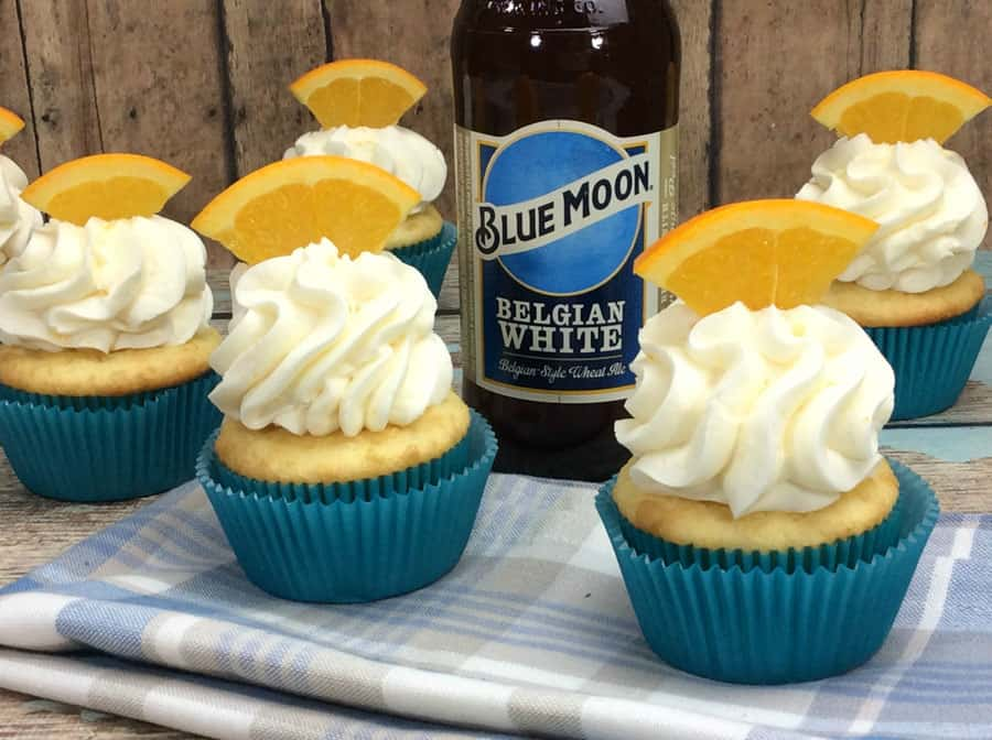 summer cupcake recipe ideas- blue moon cupcakes- Kelly Stillwell