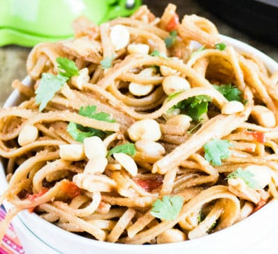 Instant Pot Thai Peanut Noodles - Make In Under 30 Minutes!