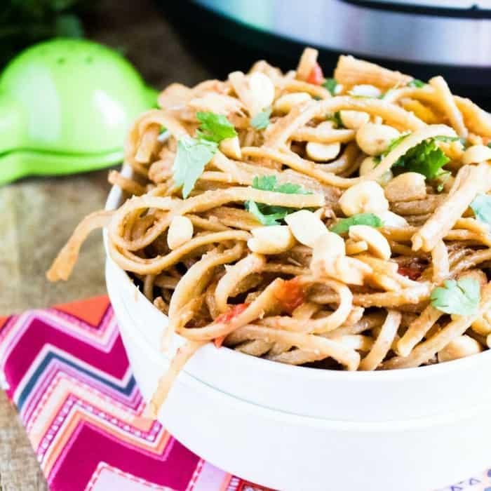 Instant Pot Thai Peanut Noodles - Make In Under 30 Minutes!