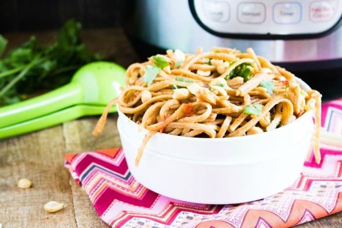 Thai Peanut Noodles Instant Pot