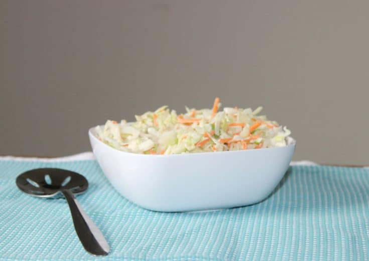 This easy KFC coleslaw recipe is one I have been making for literally years. It tastes so similar to the KFC coleslaw. Make and serve your family today. #kfc #copycat #coleslaw #easy #homemade #buttermilk #cabbageslaw #vinegar #sugar