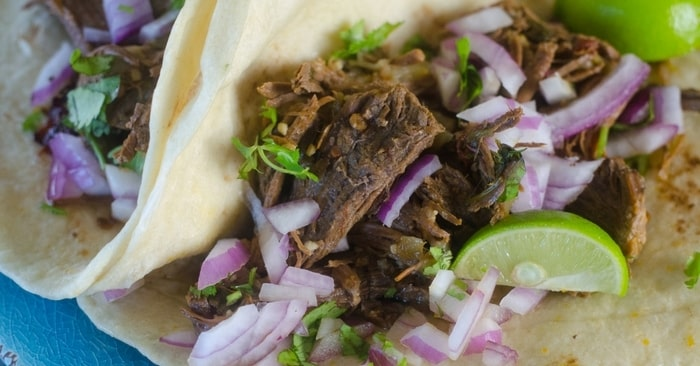 instant pot shredded beef tacos