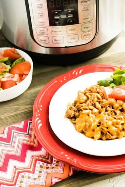 Instant Pot Cheesy Taco Pasta Dish Perfect For Taco Tuesday