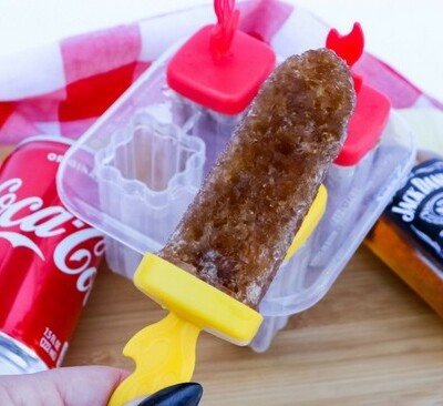 jack and coke boozy ice pop