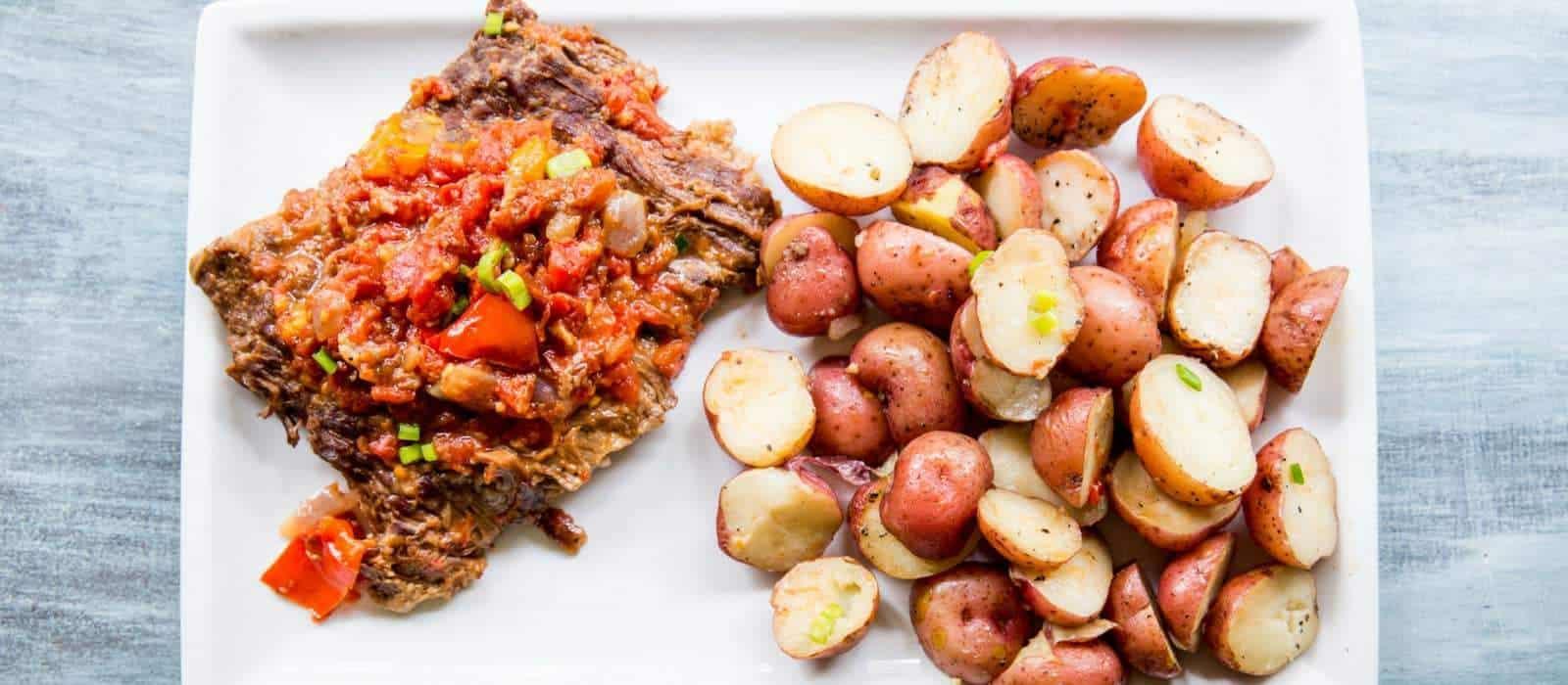 One-Pot Instant Pot Swiss Steak and Potatoes Recipe