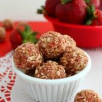 Skinny Strawberry Shortcake Bites