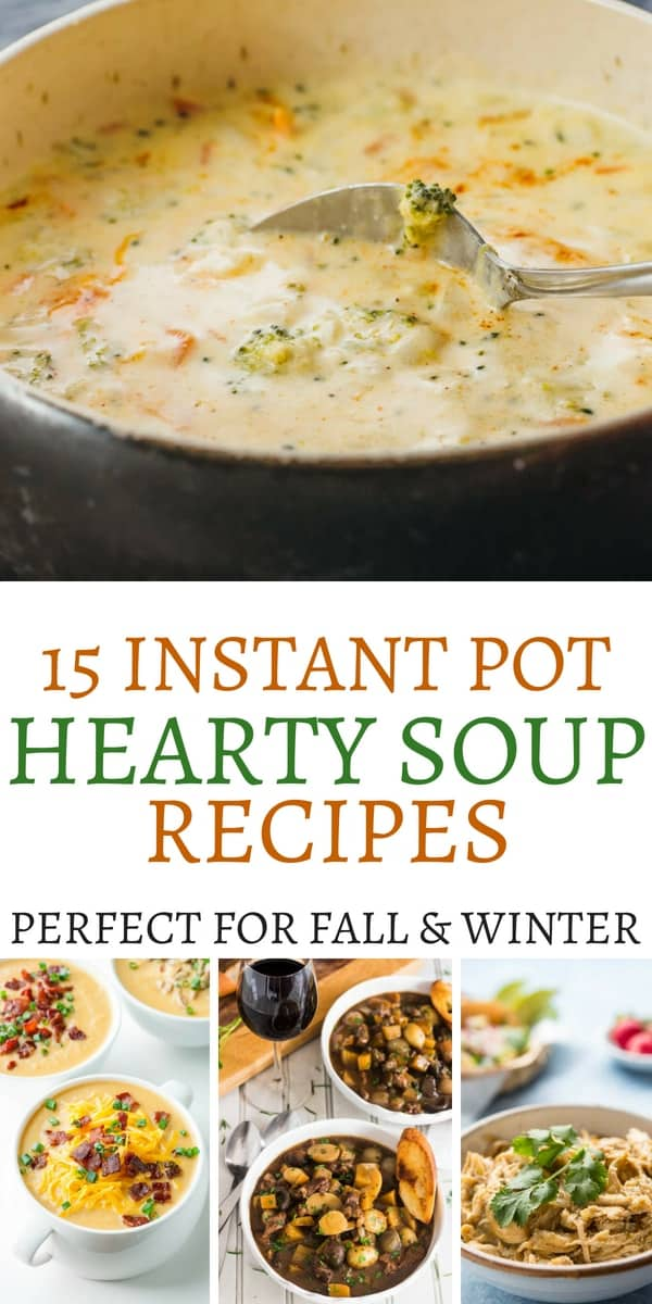 Savory Instant Pot Soup Recipes To Serve Up On A Cold Winter Day!