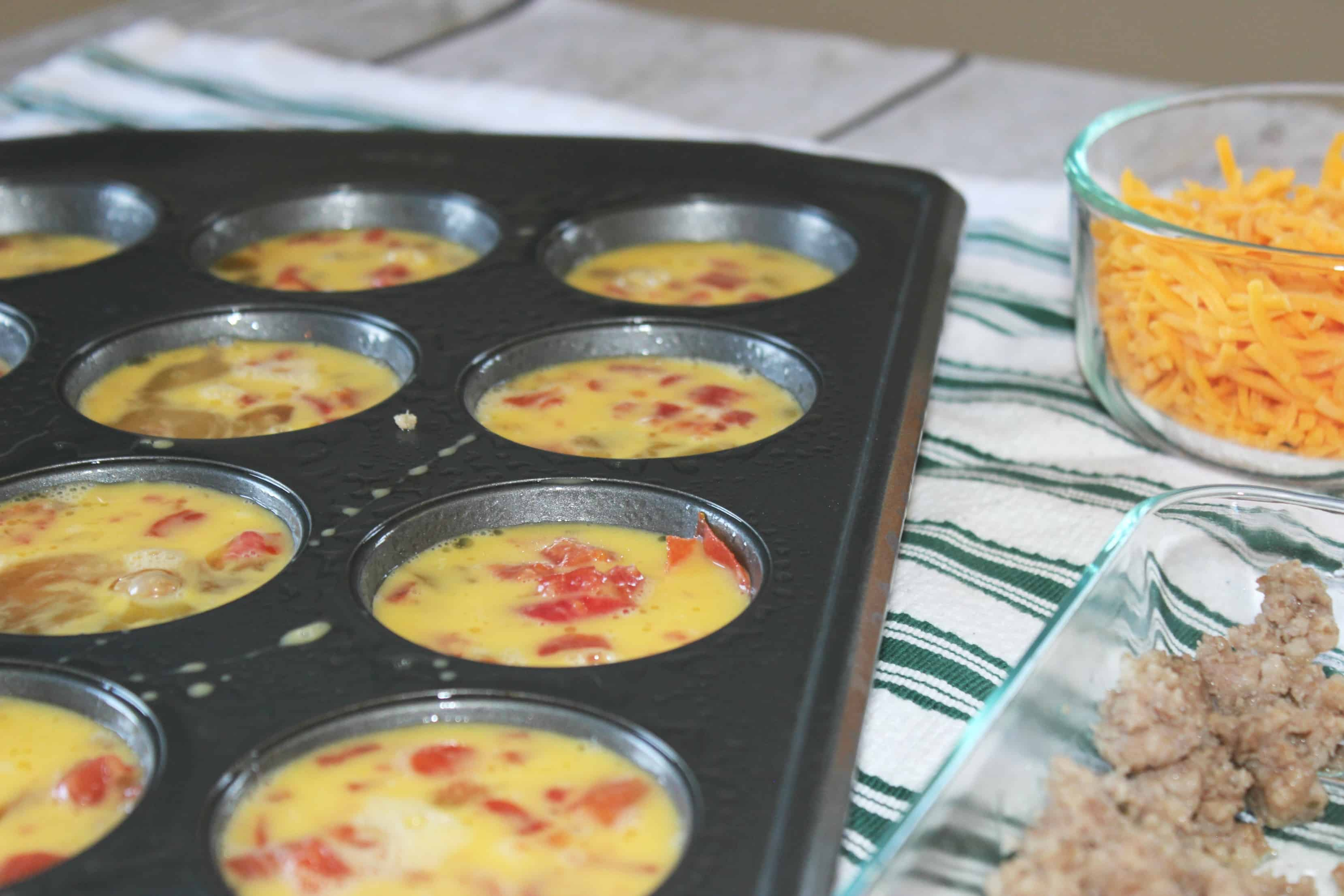 Sausage Egg Omelets In Muffin Tin Recipe To Kick Start Your Morning - Perfect to Re-Heat for a Quick Morning Breakfast on the Go!