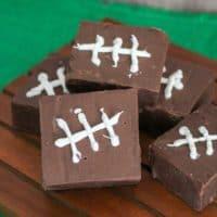 Football Themed Chocolate Fudge