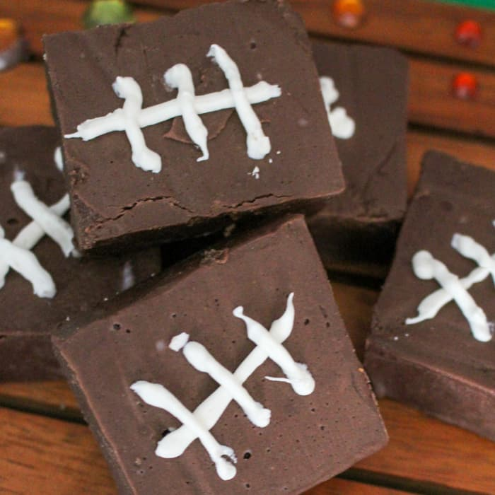 football easy chocolate fudge