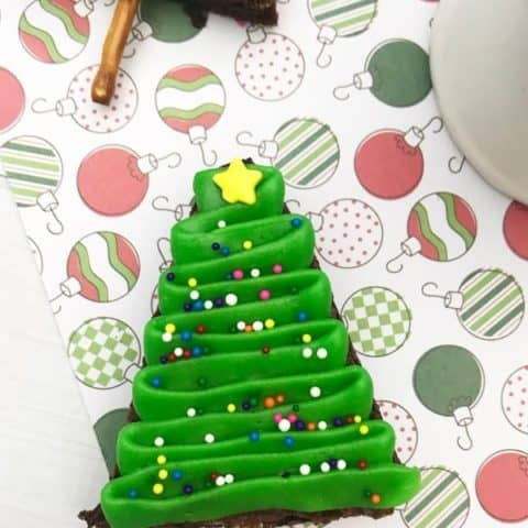 Homemade Christmas Tree Brownies
