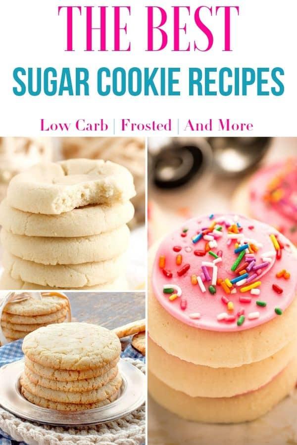 collage image of sugar cookies