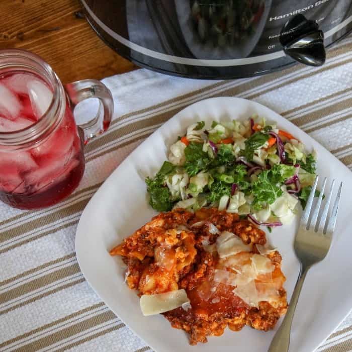 Slow Cooker Lasagna With No Boil Noodles | With Video!