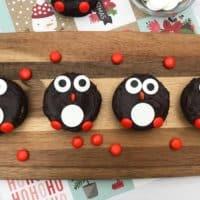 Easy Penguin Brownies