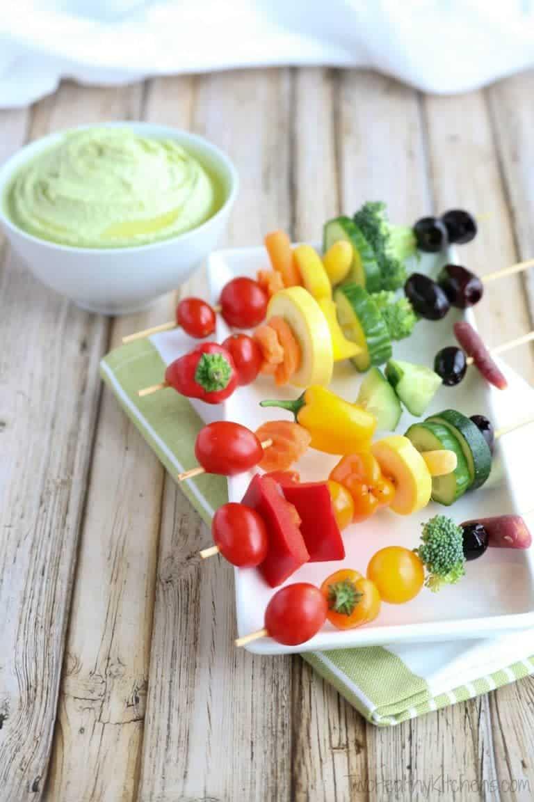 Rainbow Kabob Appetizers