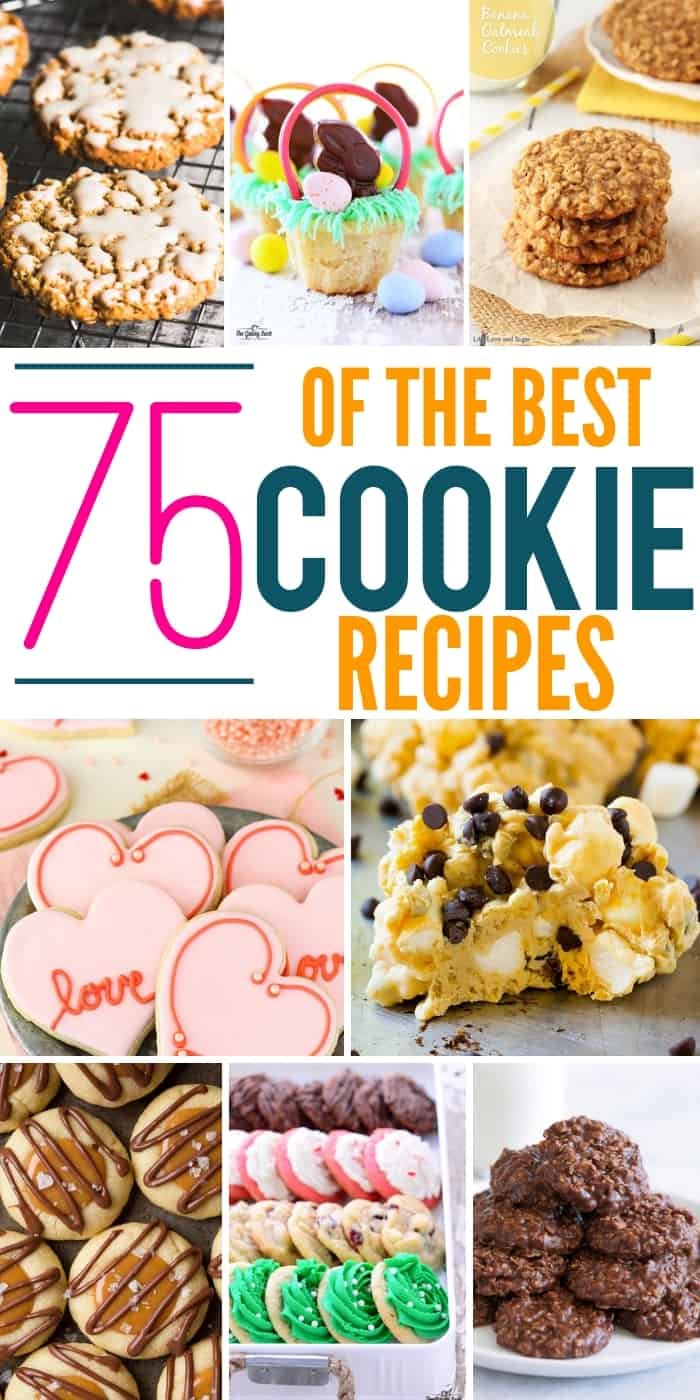 collage of cookies for a cookout roundup