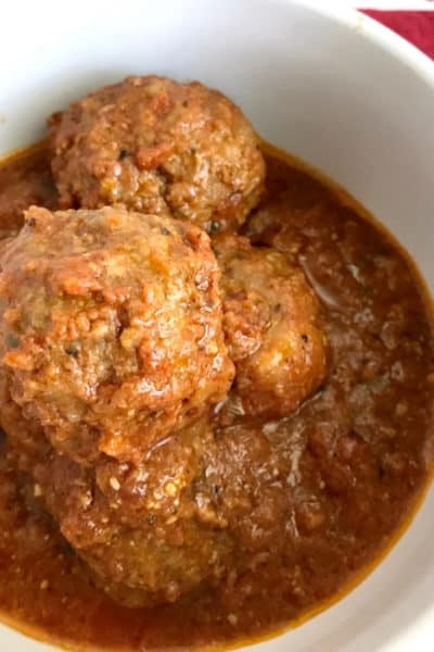 Easy Mozzarella Stuffed Meatballs Made in Instant Pot Or Oven