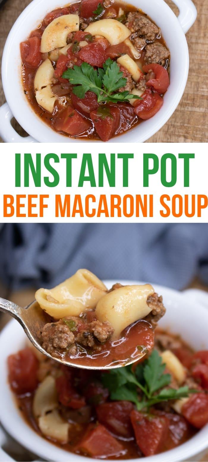 easy beef and tomato macaroni soup recipe