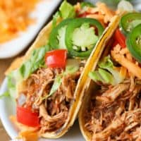 Instant Pot Chicken Tacos (Pressure Cooker)