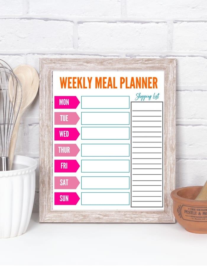 Weekly Planner mockup