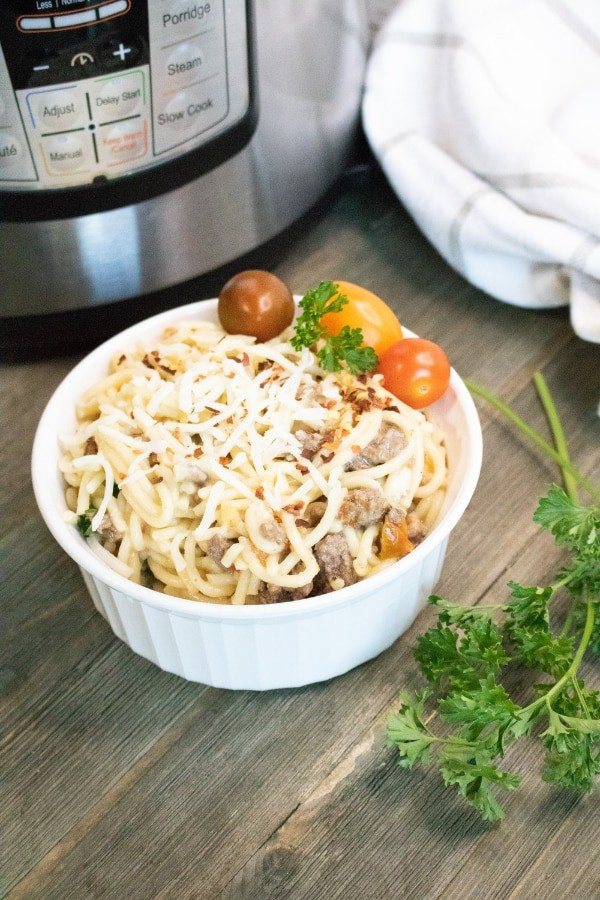 instant pot recipe for pasta and ground beef