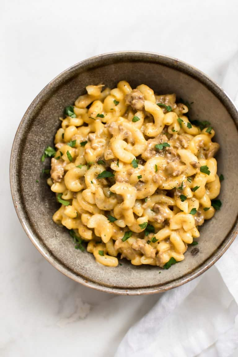 beef mac and cheese pressure cooker recipe