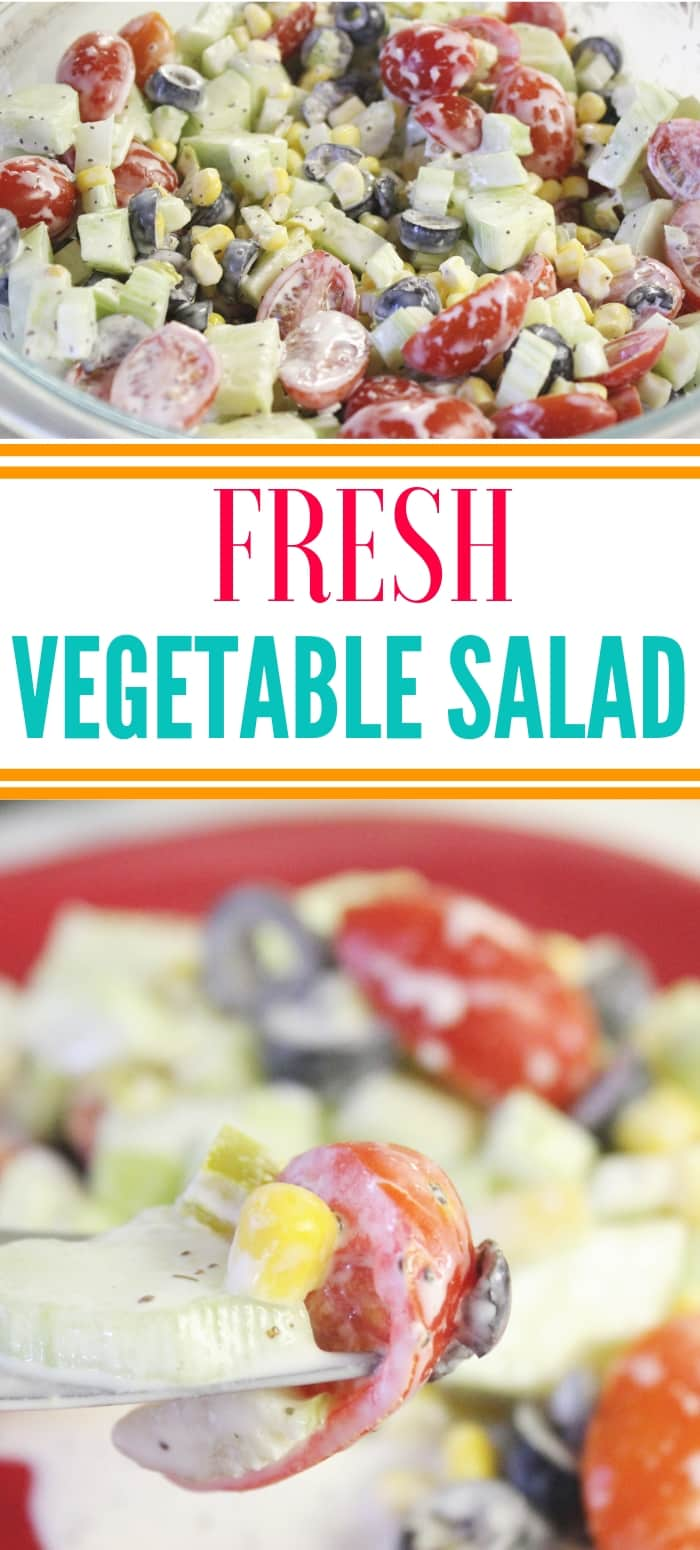 different pictures of vegetable salad
