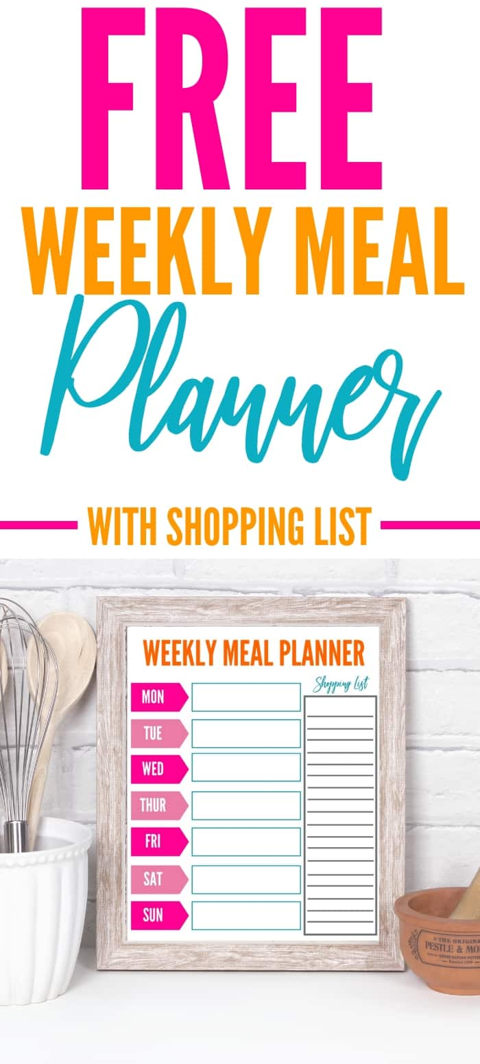weekly cooking menu planner