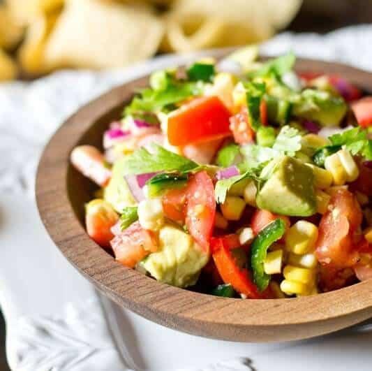 Corn, Tomato & Avocado Salad {Easy Summer Side Dish Recipe}