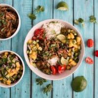 Little Donkey - Slow Cooker Pork Carnitas Burrito Bowls
