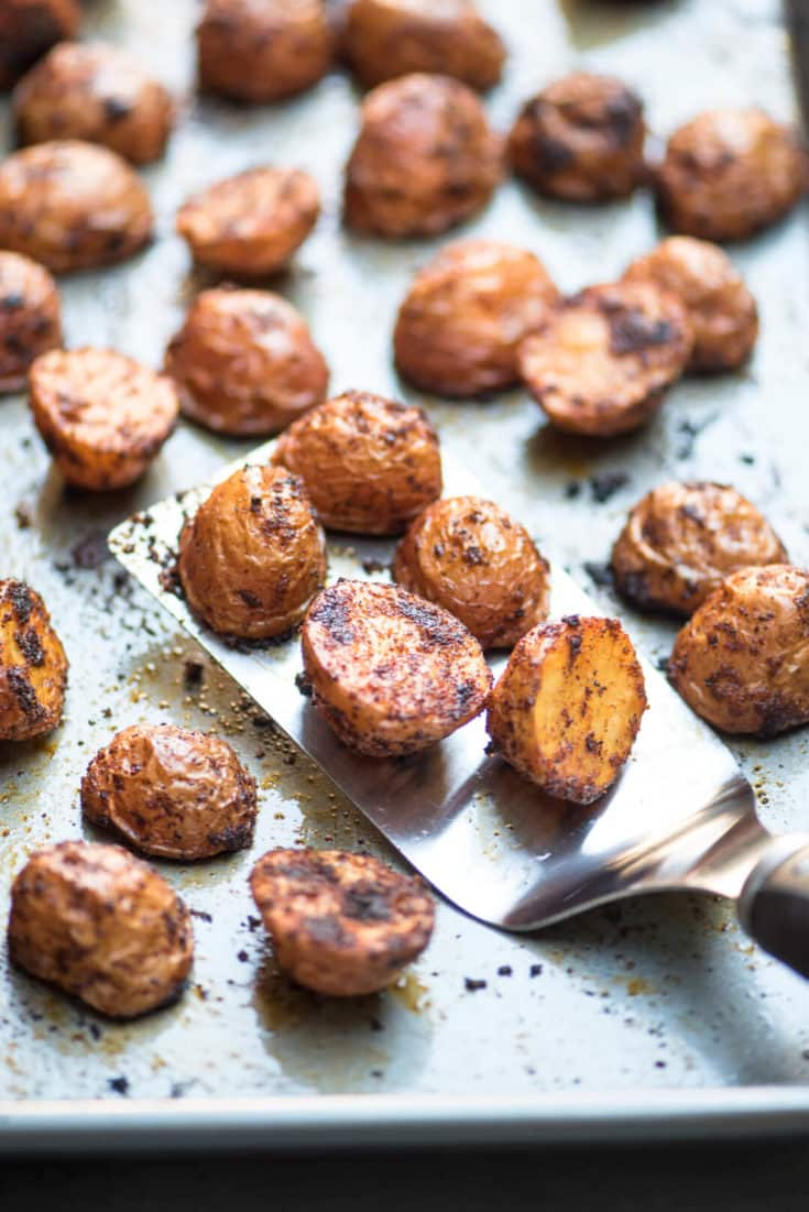 Oven Roasted BBQ Potatoes
