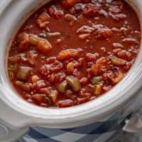 Slow Cooker Vegetarian Chili - Slow Cooker Gourmet