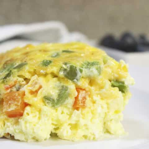 baked western omelette on a plate