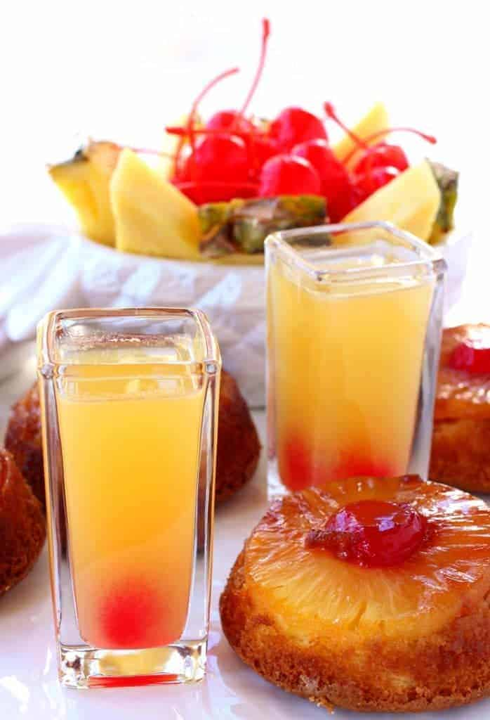 Pineapple Upside Down Shots | Tasty Shots Perfect for Summer