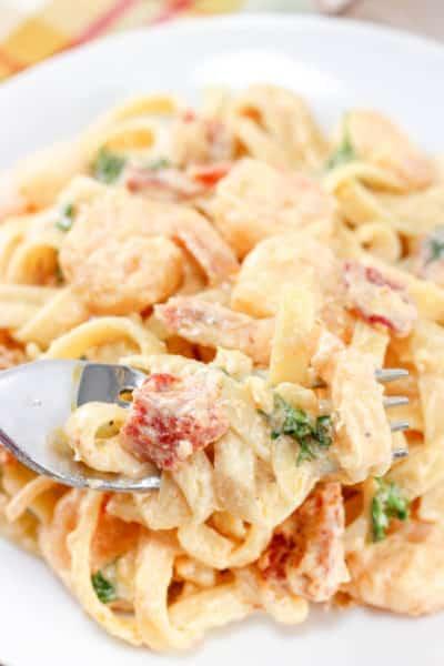 Creamy Shrimp Pasta with Sun Dried Tomatoes Recipe