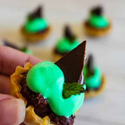 Andes Mint Brownie Phyllo Bites