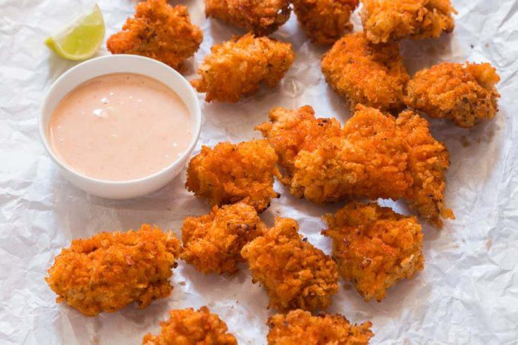 KFC Style Spicy Popcorn Chicken