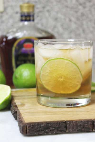 Whiskey And Ginger Ale With A Splash of Lime