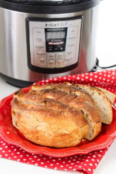 4 Ingredient No Knead Instant Pot Bread Recipe
