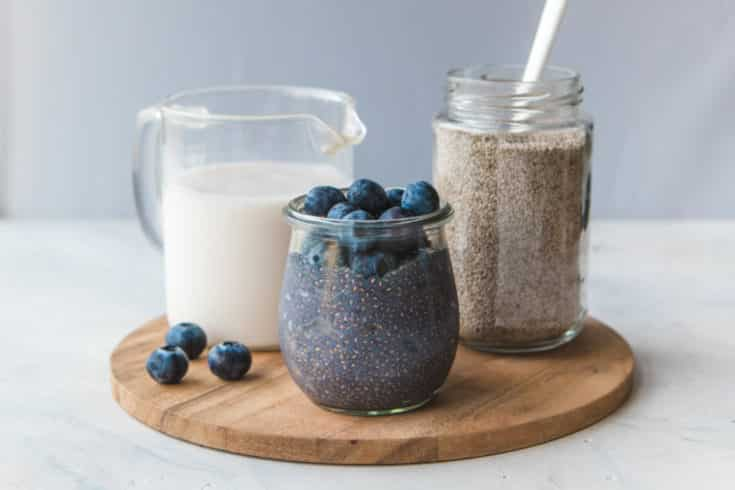 Blueberry Chia Seed Pudding (Easy + 5 Ingredients)