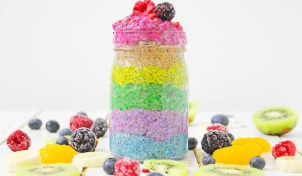 Healthy Rainbow Chia Pudding - Girl Phat