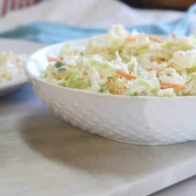 chick fil a coleslaw in a bowl