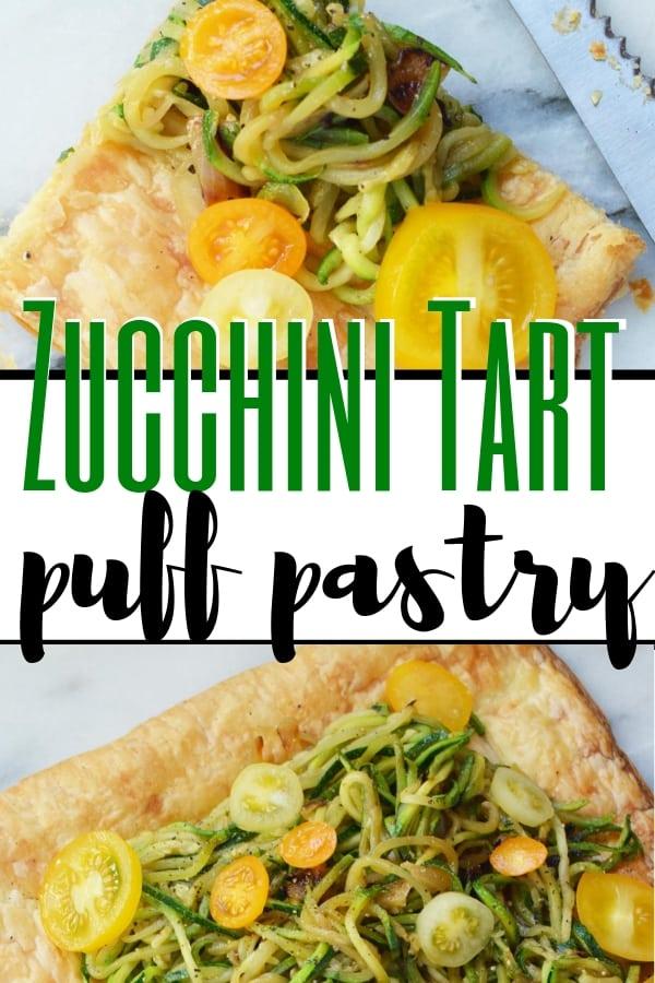 easy zucchini tart image