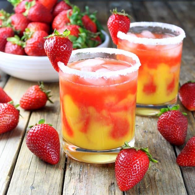 The Honey Mango Strawberry Margarita