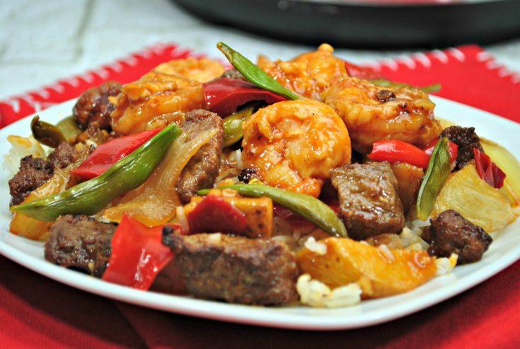 Instant Pot Hibachi Style Steak & Shrimp
