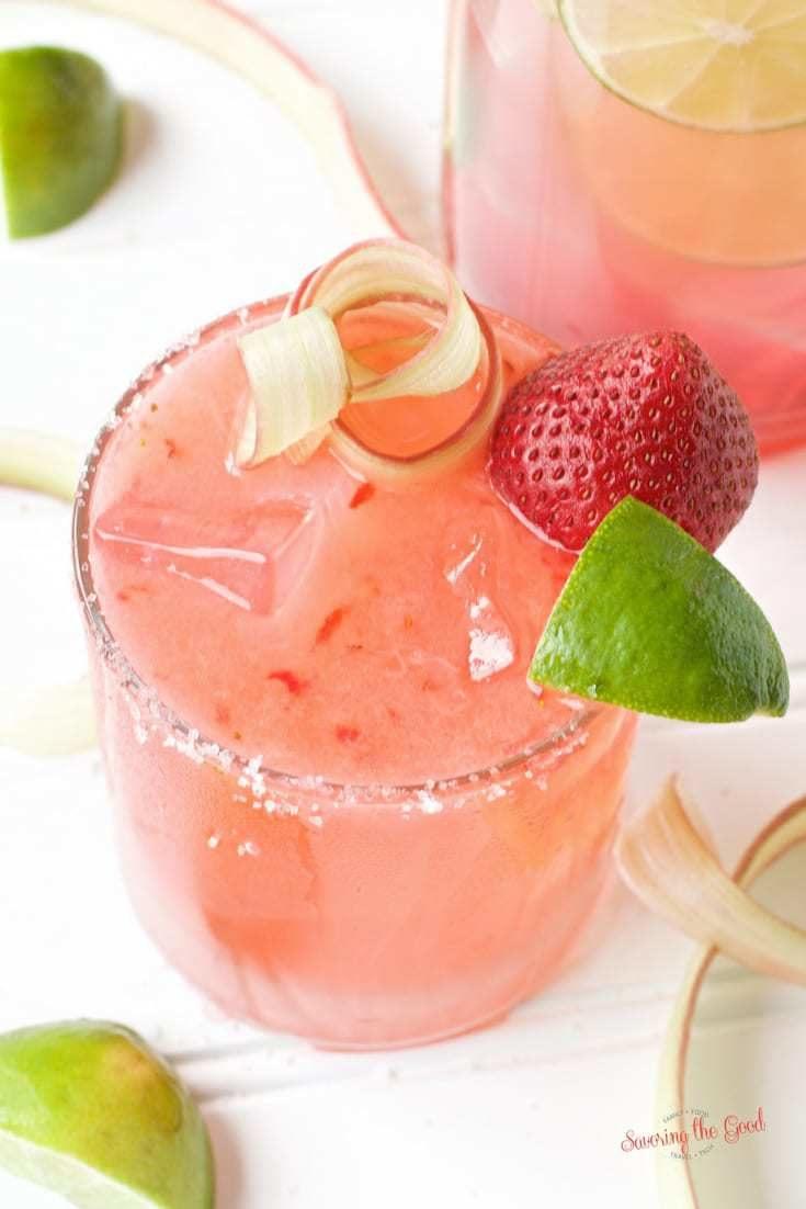 Strawberry Rhubarb Margarita Recipe