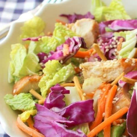 Chinese Chicken Salad Recipe (Keto Friendly)
